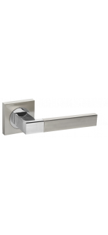 ETHNO KM SN/CP-3 SATIN NICKEL/POLISHED CHROME DOOR HANDLE FUARO